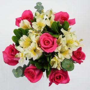 Seven Roses & Alstroemerias