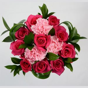 Ten Roses & Carnations